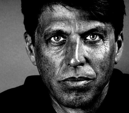 carbone: Closeup bel ritratto di un minatore di carbone Archivio Fotografico