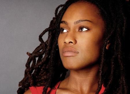 afro girl: Beautiful Portrait of a Nigerian Woman with Dreadlocks