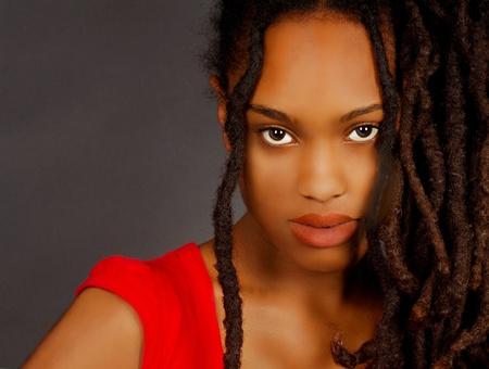 Beautiful Portrait of a lovely Nigerian Girl on Grey