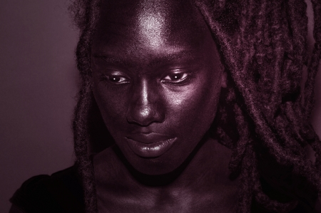 Beautiful Toned Portrait of a young nigerian Woman