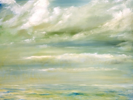 Original Oil Painting of The malibu Beach shore photo