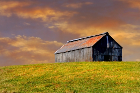 middle america: Beautiful Image of Barn in Kentucky in a field