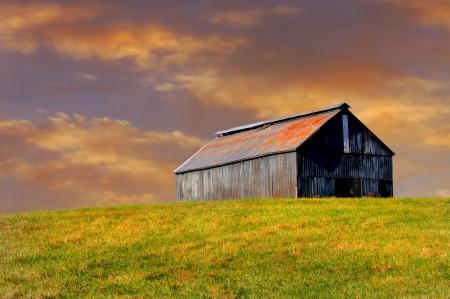Belle image de la Grange dans le Kentucky dans un champ