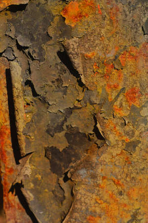 deteriorating: great Background of vintage rusted Iron Plate Stock Photo