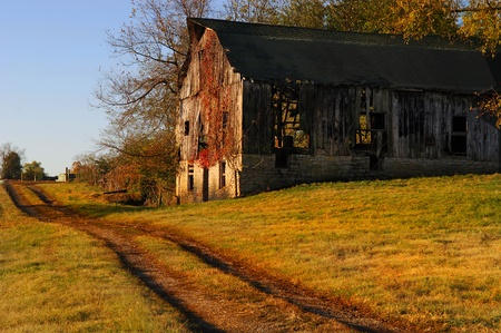 americana: Beautiful image of old kentucky Horse barn in the country Editorial