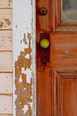 Real estate image of a Vintage old House door handle photo