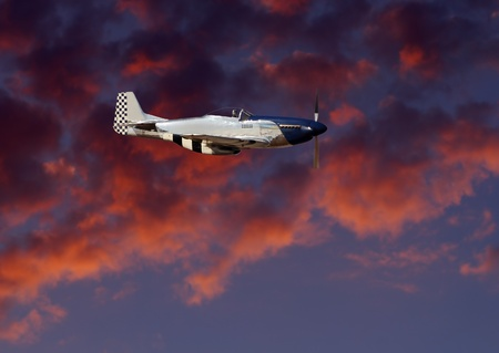 Image of world war 2 aircraft the P51 Mustang