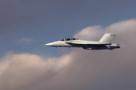 f18: Classic image of a Navy F-18 Hornet Fighter jet Editorial