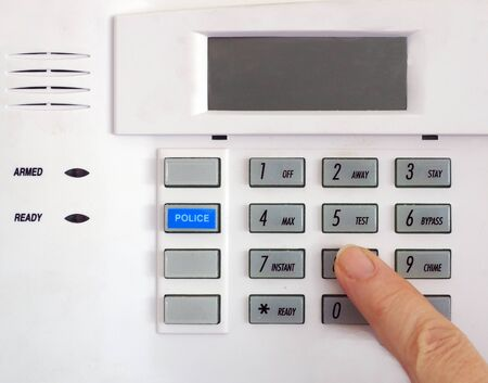 Close up image of a Security keypad