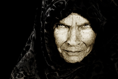 Stunning Portrait image of a russian peasant woman photo