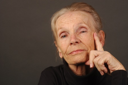 Image of a very confident Elderly Woman photo