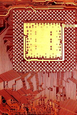 microprocessors: Macro Image Of Central processing Unit wiring