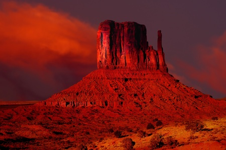Striking Image of Monument valley at sunset photo