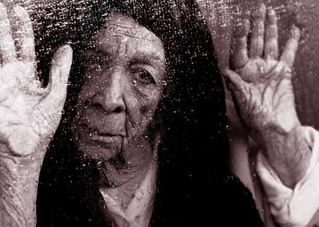 Beautiful Image of a Elderly woman Alone photo