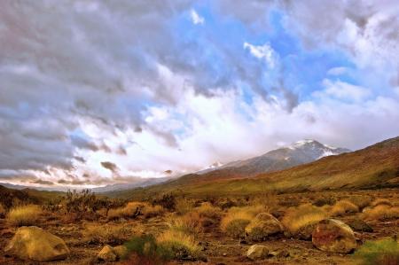 llanura: Imagen hermoso paisaje del desierto de Palm Springs, California Foto de archivo