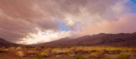 Nice panorama Image Of the palm Springs desert photo