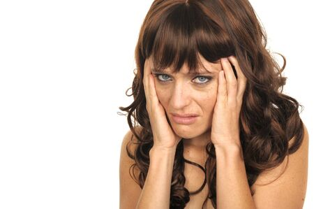Useful Image of a young woman with a headache Stock Photo - 10948696