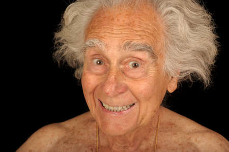 Image of a elderly senior man Being Funny Stock Photo - 10952491