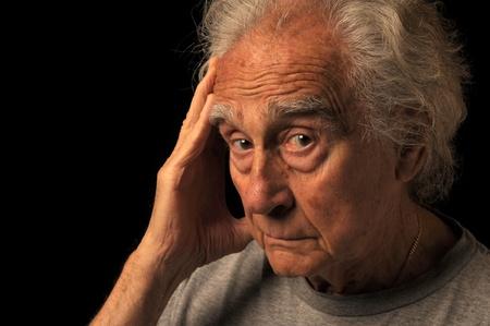nice portrait of an Elderly man on Black Stock Photo - 10952499