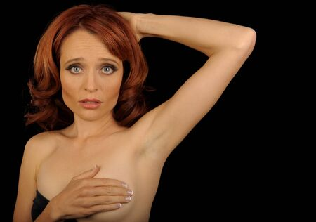 nice breast: Nice Image Of a Young woman Doing a self Breast Exam