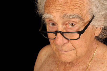 良い肖像画老人の黒のイメージ