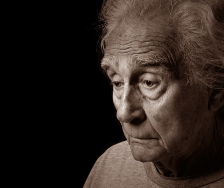 Emotional Image Of an Older man suffering depression Stock Photo - 10952477