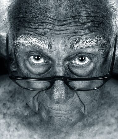 Amazing Close up Hyperfocus Image of an Elderly man photo