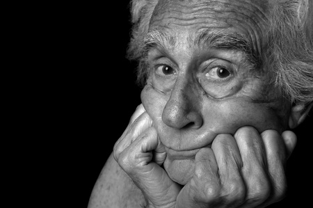 Nice Portrait of an Elderly Man On Black Stock Photo - 10952495