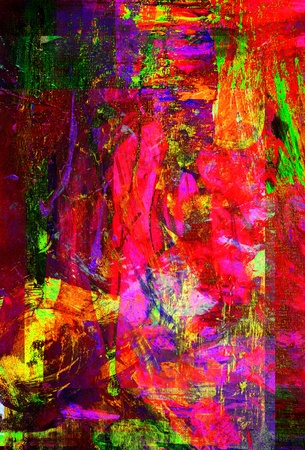 abstract paintings: Nice Image Of a Large scale Original Oil Painting Stock Photo