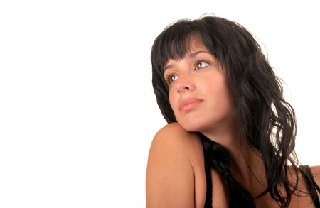 Very Nice Image of a Isolated Beautiful Woman Stock Photo - 10976981