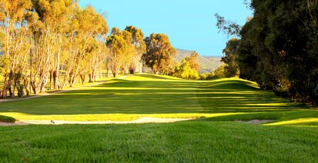 golf of california: Image of a beautiful Fairway on a southern california Golf course Stock Photo