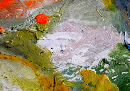 Nice Image of a original Abstract Oil Painting on canvas