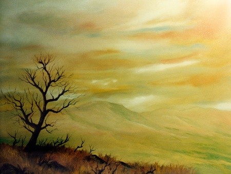 Very Nice Original Landscape oil painting On canvas Stock Photo - 10977009