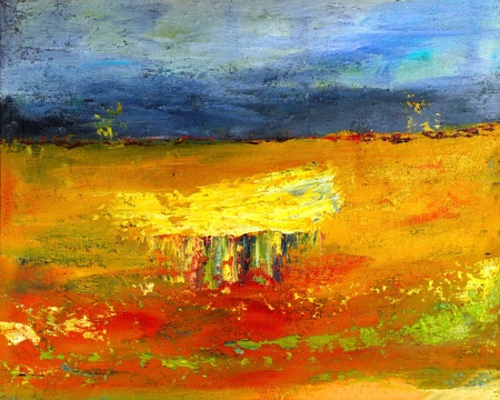Image of a mixed media painting On canvas photo