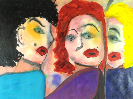 Image of Original painting Acrylic on Paper