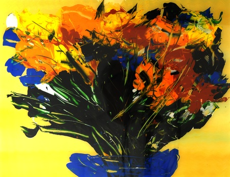 painting: Image of a Original Painting On glass Stock Photo