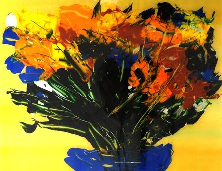Image of a Original Painting On glass Banco de Imagens