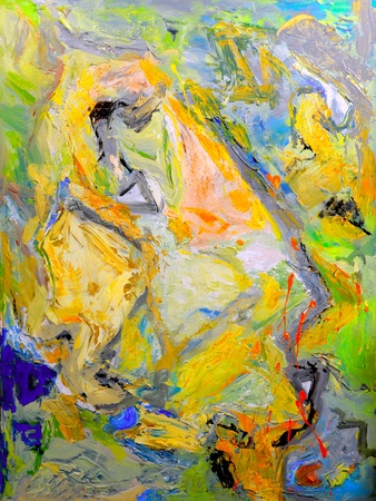 abstract paintings: Image Of a Original Oil Painting On Canvas