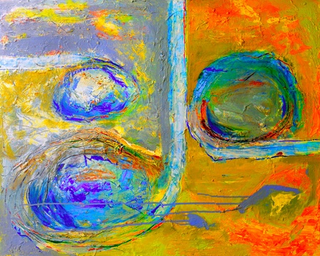abstract paintings: Image of an original Oil painting On Canvas Stock Photo