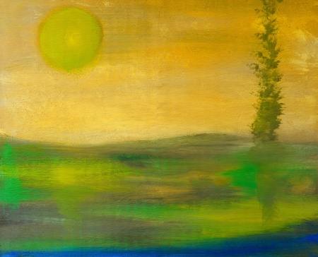 Image is of an original Oil painting on Canvas photo