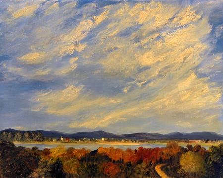 Afbeelding van een landschap Schilderij Olieverf op doek