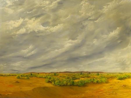 Beautiful Original Oil painting of the California Desert photo