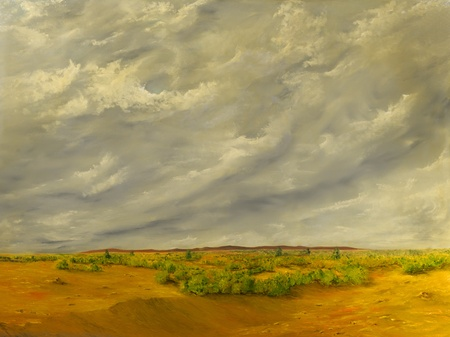 Beautiful Original Oil painting of the California Desert
