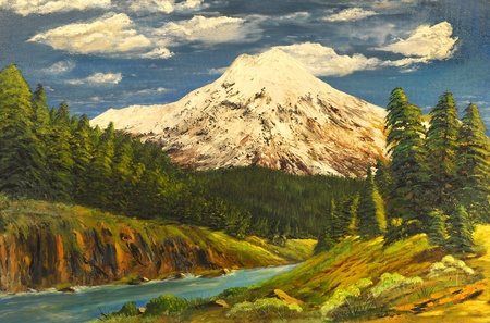 very nice Image of a Original Oil Painting photo