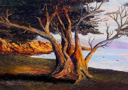 very Nice small scale Oil painting on Canvas photo