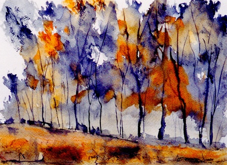 abstract paintings: very nice original Watercolor painting on paper Stock Photo