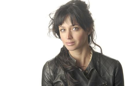 Beautiful Image of a Latino Woman on White Stock Photo - 10996811
