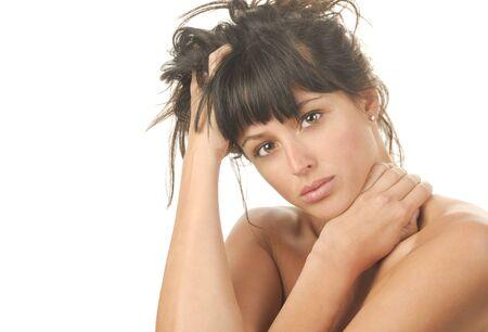 Beautiful Image of a latino Woman On White Stock Photo - 10996800