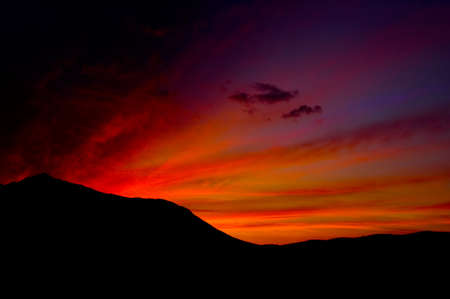 Beautiful color Sunset image of Death valley