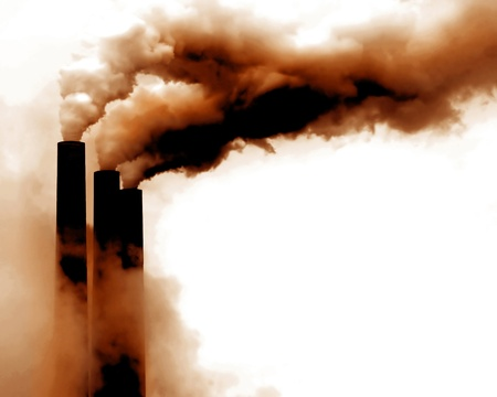 Scary Image of Power Plant emissions in america Stock Photo - 11088849